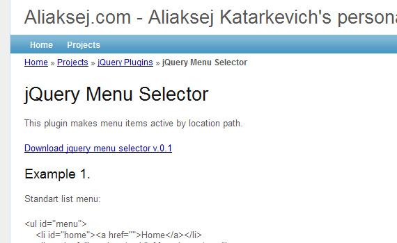 Selector-jquery-navigation-menu-plugins