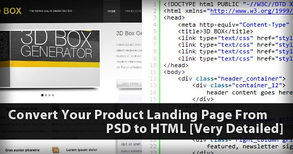 Convert Your Product Landing Page From PSD to HTML [Very Detailed]