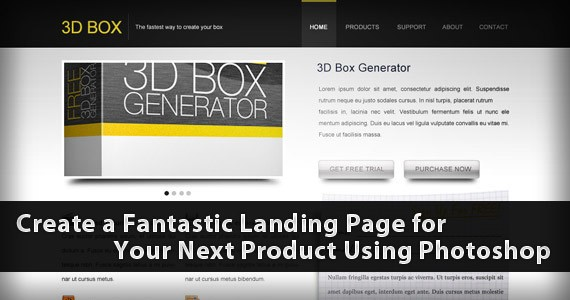 Create a Fantastic Landing Page for Your Next Product Using Photoshop