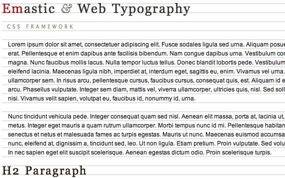 Emastic - CSS Grid Framework (typography).jpg