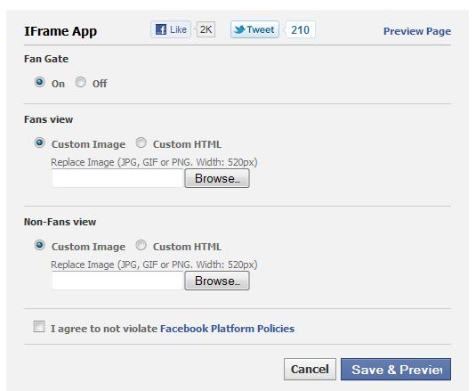 Fan Gate - Facebook Application