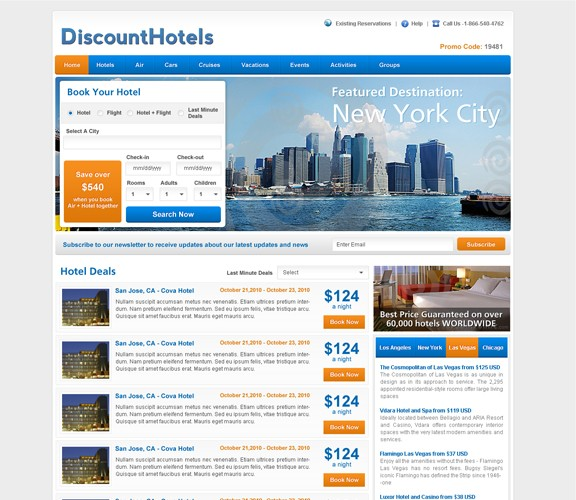 DiscountHotels   Design a Modern Business Website
