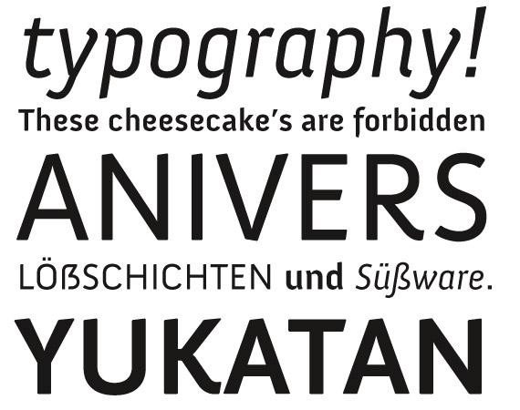 Anivers Free High Quality Font Web Design