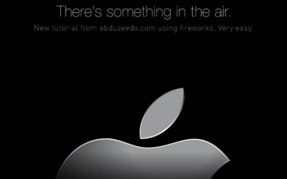 apple-air-banner-fireworks-tutorials-text-effects
