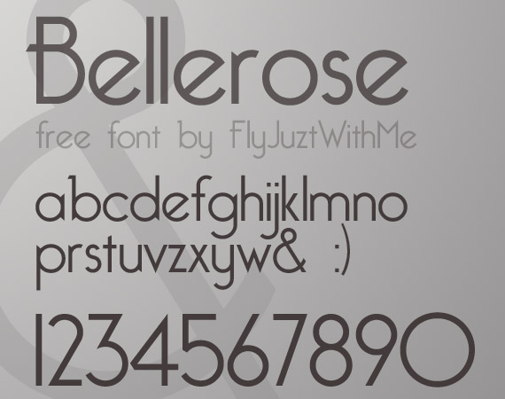 bellerose-free-high-quality-font-web-design