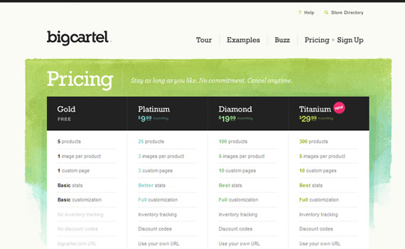 Big-cartel-pricing-charts-best-examples-tips-inspiration