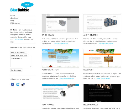 Blue-bubble-free-portfolio-wordpress-themes