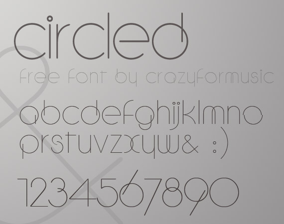 circled free high quality font web design