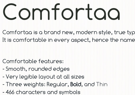 Comfortaa Free High Quality Font Web Design