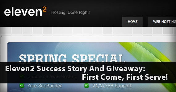 Eleven2 Success Story And Giveaway:First Come, First Serve!