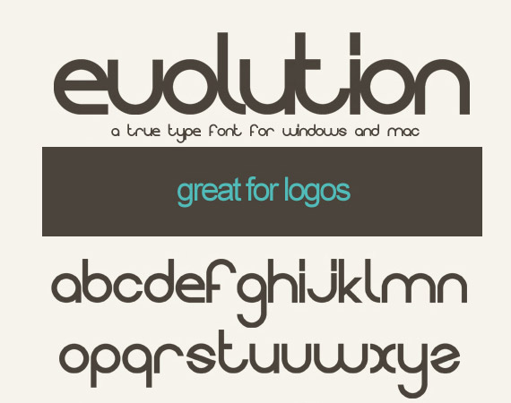 Evolution Free High Quality Font Web Design