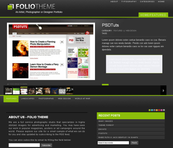 Foliotheme-commercial-wordpress-portfolio-showcase-theme