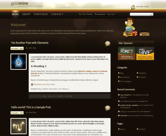 Goldmine-commercial-wordpress-portfolio-showcase-theme