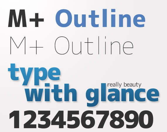 m-plus-outline-free-high-quality-font-web-design