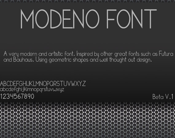 Modeno Pro Free High Quality Font Web Design