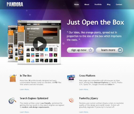 Pandora-commercial-wordpress-portfolio-showcase-theme