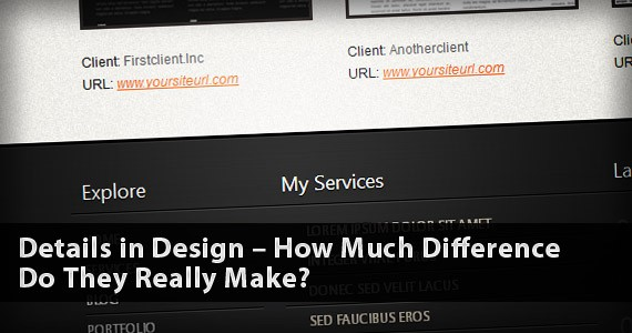 Details in Design – How Much Difference Do They Really Make?