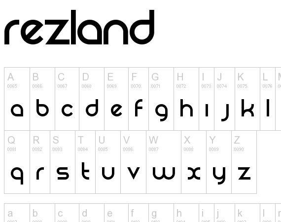 Rezland Free High Quality Font Web Design