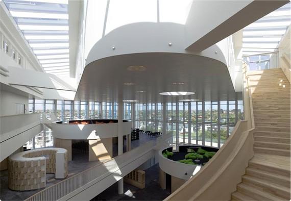 Orestad Gymnasium in Denmark, photo by BenEightEleven.