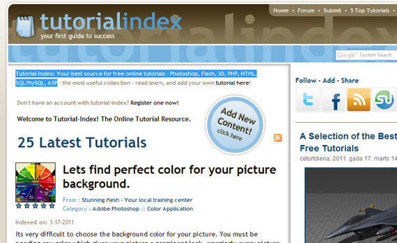 Index-sites-submit-web-design-tutorials