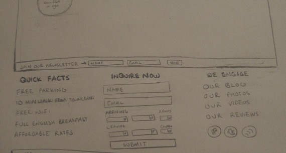 Website Sketching