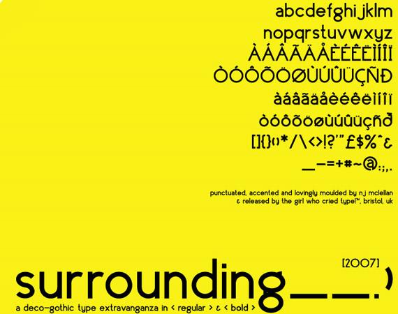 surrounding-free-high-quality-font-web-design