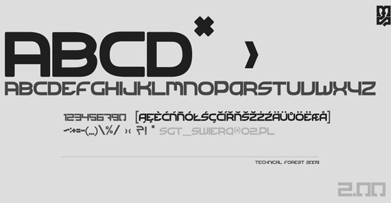 Technical Forest Free High Quality Font Web Design