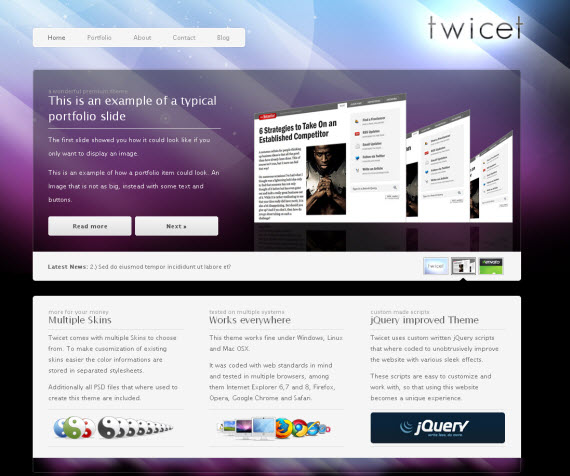 Twicet-commercial-wordpress-portfolio-showcase-theme