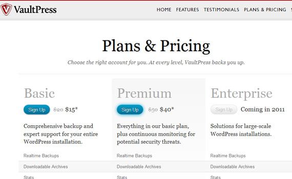 Vaultpress-pricing-charts-best-examples-tips-inspiration
