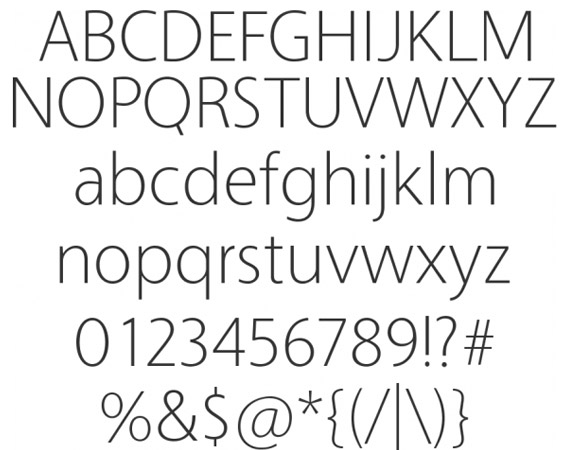 Vegur Free High Quality Font Web Design