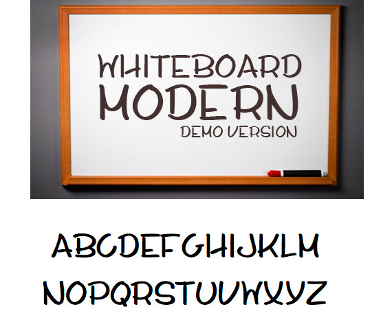 Whiteboard Modern Demo Free High Quality Font Web