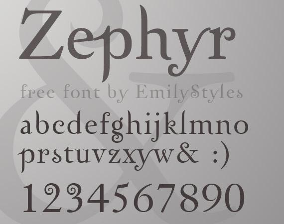 zephyr-free-high-quality-font-web-design