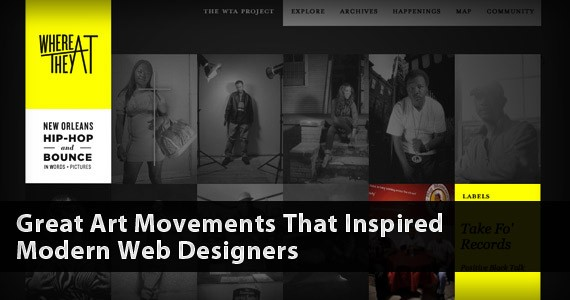 Great Art Movements That Inspired Modern Web Designers
