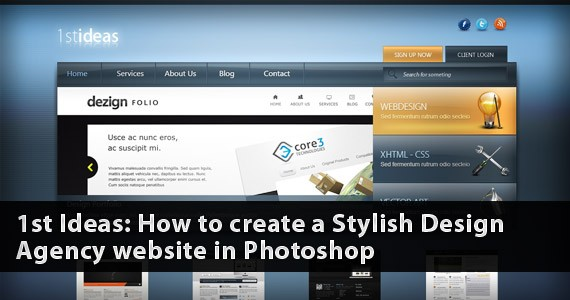 1st Ideas: Create a Stylish Design Agency Website [Very Detailed]
