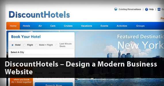 DiscountHotels – Design a Modern Business Website