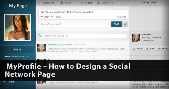 MyProfile – How to Design a Social Network Page