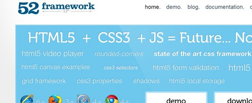 20+ Useful CSS3 and HTML5 Frameworks, Tools and Templates
