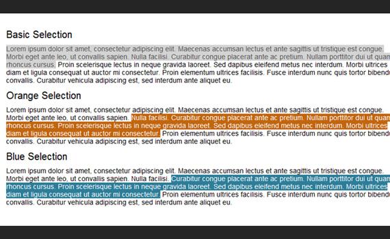 Change-selection-color-css3-text-effect-tutorials
