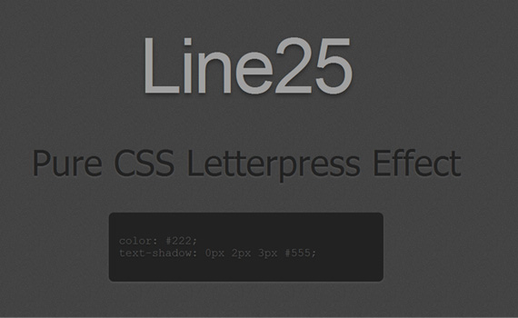 Pure-letterpress-css3-text-effect-tutorials