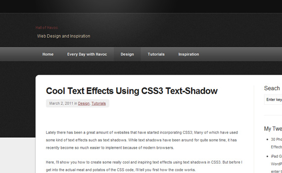 40 Creative CSS3 Text Effects and Tutorials