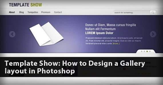 Template Show: How to Design a Gallery Layout in Photoshop