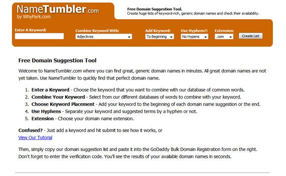 Nametumbler-tips-tools-choose-domain-name