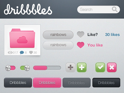 Dribbbles-set-free-psd-dribbble