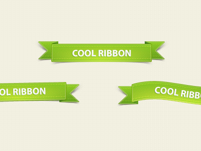 Green-ribbons-free-psd-dribbble