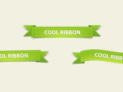 Green-ribbons-free-psd-dribbble