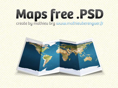 Map-free-psd-dribbble