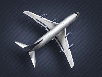 Plane-free-psd-dribbble