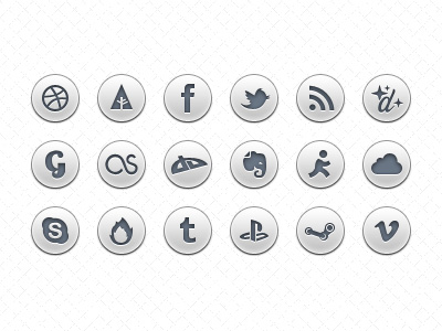 Social-icons-free-psd-dribbble