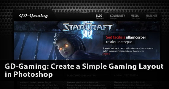 GD-Gaming: Create a Simple Gaming Layout in Photoshop