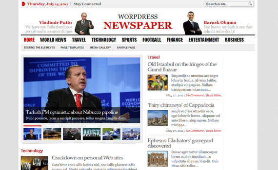 Fresh And Stunning Premium MagazineNewsletter Wordpress Themes